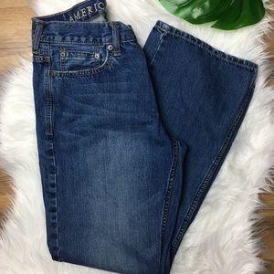 Men's American Eagle Boot Cut Dark Wash Jeans